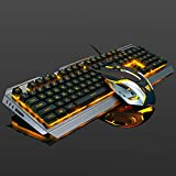 Cutoget Mechanical Gaming Keyboard Mouse Set Wired Anti-Slip Breathing Light USB for Computer