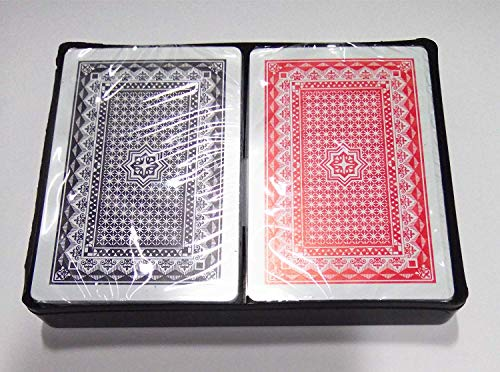 Gooyo Plastic Playing Cards Set of 2 (Red, Black)