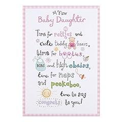 Idea Regalo - Hallmark–Biglietto di auguri per la nascita di una bambina Time to say Congrats to you -Medio