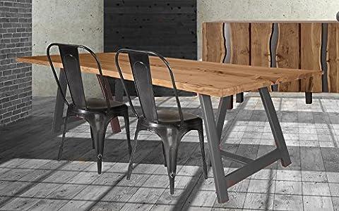 Table Bois Massif - Table tronc en bois massif naturel 'Zen'