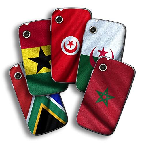 atFolix Designfolie kompatibel mit Wiko Ozzy, Skin Aufkleber (Flaggen aus Afrika)
