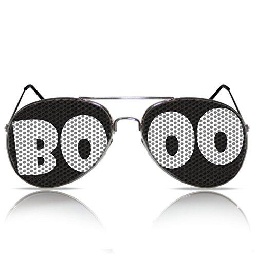 Halloweenbrille Booo Halloween Zubehör Gespenst Geist Halloween Accessoires Brille Booo Halloween Gadgets (Halloween Aviator Kostüm)