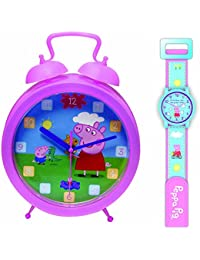 Peppa Pig relojes, Clock and Watch SET