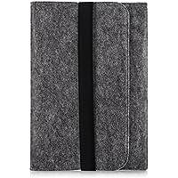 """kwmobile Funda para tablet funda de fieltro para 9,7 - 10,1"""" Tablet - Funda protectora para tablet bolso cartera funda en gris con bolsillos interiores Dimensiones interiores: approx. 28 x 21 cm"""