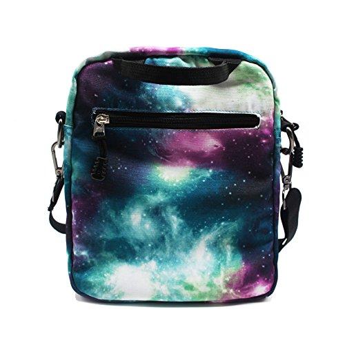 06f4c3edf192d Artone Unisex Nylon Sternenklar Galaxis Universum Rucksack Passen 15 Laptop  mit Umhängetasche Kordelzug Tasche und Mäppchen ...