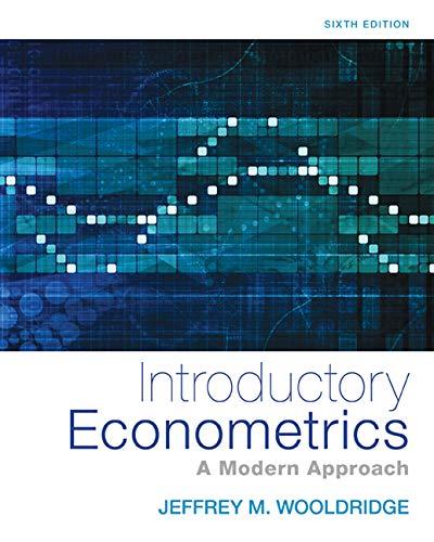 Wooldridge, J:  Introductory Econometrics (Upper Level Economics Titles)