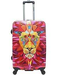 Saxoline Jungle Lion Koffer, 67 cm, 53 L, Mehrfarbig
