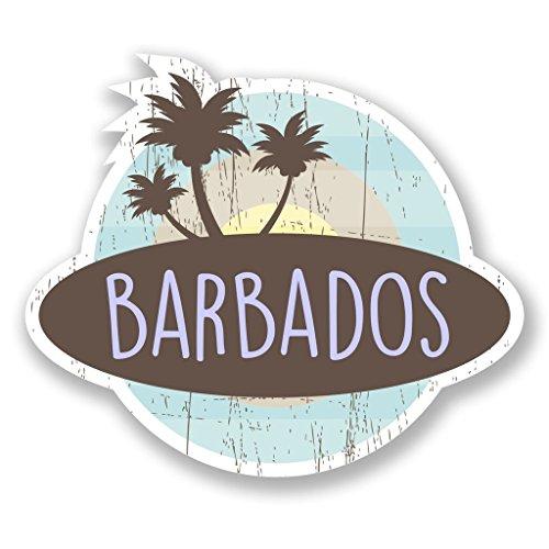 2x Barbados Karibik Vinyl Aufkleber Aufkleber Laptop Reise Gepäck Auto Ipad Schild Fun # 6772 - 10cm/100mm Wide