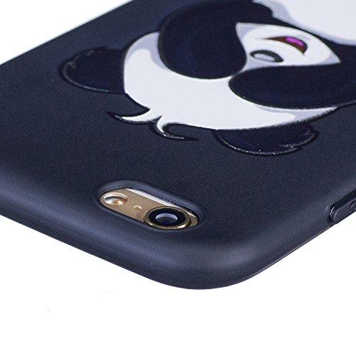 Coque iPhone 6, Étui iPhone 6S, iPhone 6/iPhone 6S Case, ikasus® Coque iPhone 6/iPhone 6S Housse Papillon Panda Hibou Fleur Modèle Couleur peinte Doux TPU Silicone Étui Housse Téléphone Couverture TPU Panda