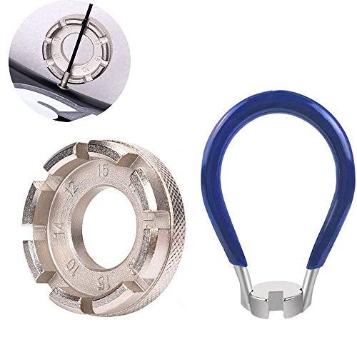 Daimay Fahrrad Speichenschlüssel aus Stahl Größe Rad Zentrierer 8-Fach 10-15 Nippelspanner für 14G Speichen Werkzeug Speichenspanner Speichennippel für Fahrrad, Leichtes Elektrofahrzeug, MTB