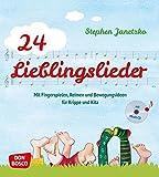 24 Lieblingslieder, Liederbuch m. Audio-CD: Mit Fingerspielen, Reimen und Bewegungsideen für Krippe und Kita