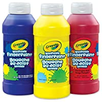 ‏‪Crayola; Washable Fingerpaint; Art Tools; 32-Ounce Plastic Squeeze Bottle; Bright, Bold Colors; Red‬‏