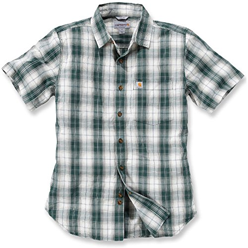 Carhartt Workwear Arbeitshemd Arbeitsshirt - Slim Fit Plaid Shirt - Hunter Green (XL)