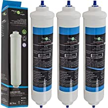 FilterLogic FFL-191X | Paquete de 3 - Filtro de agua frigorífico compatible con HAIER