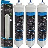 FilterLogic FFL-191X | Lot de 3 - Filtre à eau frigo externe remplace HAIER 0060823485A Cartouche pour réfrigérateur HRF-628A HRF-628I HRF-630A HRF-630I HRF-522I HRF-665I, Multi portes HB22FWRSSAA