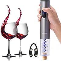 Ankway Cavatappi Elettrico Apribottiglie Elettronico Opener Bottiglia di Vino Elettrico con Rimovibile Tagliacapsule Foil Cutter (Grigio Argento)