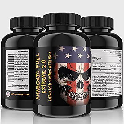 Anabolic Fuel Extreme 2.0/320 A 1000 mg Tablets (Vegan) | Extremely High Dose Amino Acid Complex + Testosterone Booster | 18 Amino Acids + Maca + B6 | for, Muscle Building, Power and Strength from Muscle-Freakz