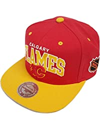 Mitchell & Ness Calgary Flames Team Arch ND12Z Snapback Cap Kappe Basecaps NHL