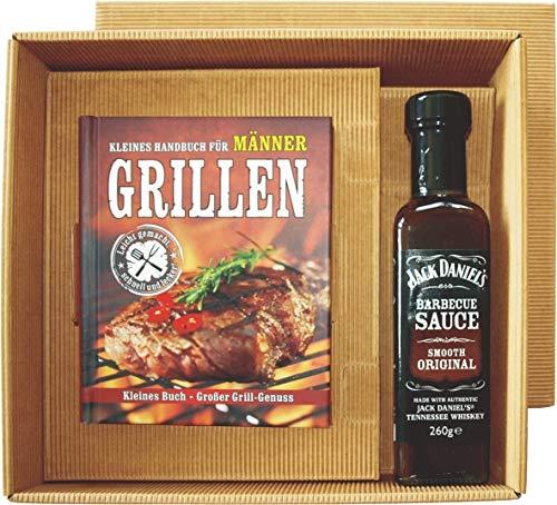 Mini Grillbuch im Geschenk Karton kleines Handbuch für (Männer Grillen mit Jack Daniel`s BBQ sauce 22510) Geschenke handlich mit vielen Fotos und Bildern