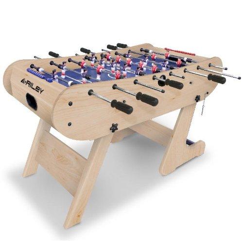 Riley Men's Azteca 4' Folding Football Table, Beech, 4 ft
