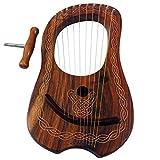 Neuf Lyre harpe 10String Rose Bois avec housse de transport et clé d\'accordage
