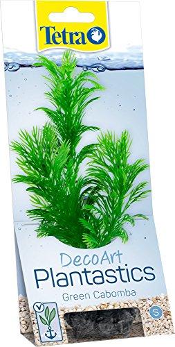 Tetra DecoArt Plant Cabomba, künstliche Aquariumpflanze, echt aussehende Unterwasserpflanze, Größe S, grün