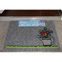 Fussmatte / Fußmatte / Schmutzabstreifer / Sauberlaufmatte / Türfußmatte / Fußabstreifer / Fußabtreter / Fussabstreifer / Fussabtreter / Türmatte / Motivfußmatte / Motivfussmatte / Flocky / Blumen mit Giesskanne Größe ca. 40 x 60 cm / Fußmatte / Fußmatte / Designfußmatte / Schmutzfangmatte Motiv witzig lustig Lieferzeit ca. 1-2 Werktage