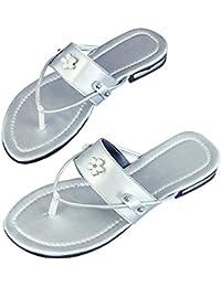 Zapatos de Verano Mujer Playa,VENMO Flor Sandalias Planas Zapatillas Antideslizante Chanclas