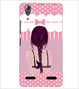 PrintDhaba Girl Image D-3554 Back Case Cover for LENOVO A6000 (Multi-Coloured)