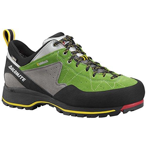 Dolomite Uomo 85573700-010Scarpe da trekking Capricorno Low GTX Black/Silver, Verde (Bright Green/Silver), 8.5 UK