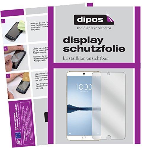 dipos I 2X Schutzfolie klar passend für Meizu 15 Plus Folie Bildschirmschutzfolie