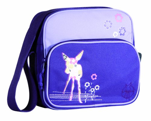 Lässig Mini Square Bag Kindergartentasche, Mushroom magenta Deer viola