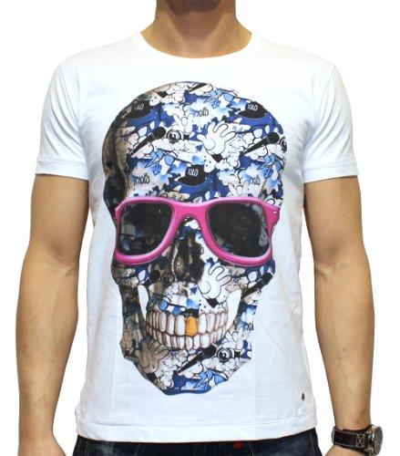 40by1, Herren T-Shirt, Yolo Skull, Street Couture, white, 40/1-14-012, GR M