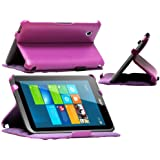 Navitech Purple Faux Leather Case Cover For The Acer Iconia W4 Windows 8.1