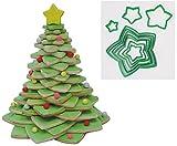 Weihnachten star Cookie Cutter Baum Set, 10Ausstechformen