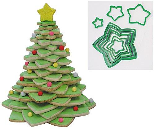 Weihnachten star Cookie Cutter Baum Set, 10Ausstechformen (Cutter Star)