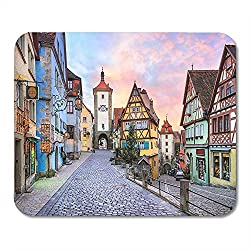 Rothenburg Ob Der Tauber Malerische Mittelalterstadt in Deutschland Soft Durable Laptop Gaming Pad 25cmx30cm