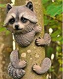 Garden Mile® - Decoración para árbol de jardín, elemento decorativo con diseño de animal agarrado a un árbol, esculturas para jardín, decoración del hogar