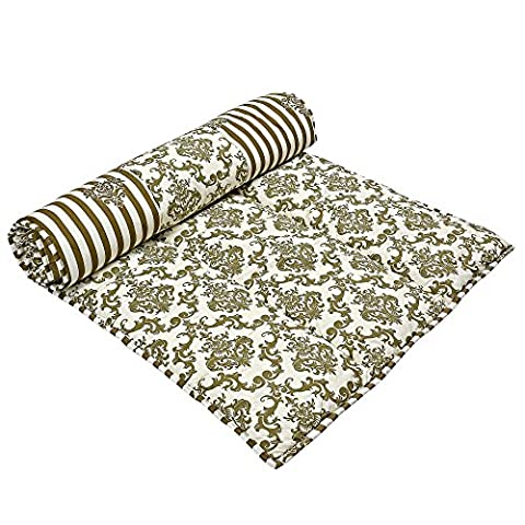 Handmade Indian Meditation Yoga mat padded cotton reversible design exercise (Reversibile Mat)