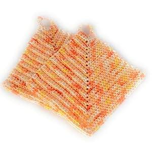Kindertopflappen Topflappen für Kinder Zubehör für Kinderküche ca. 11 x 11 cm gehäkelt 100% Baumwolle