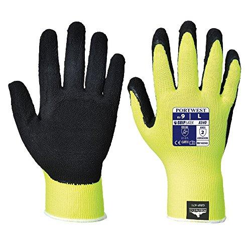 Portwest A340 Paire de gants à grip antidérapant haute visibilité, XL, Orbk Jaune