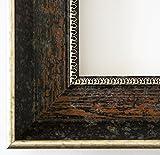 Bilderrahmen Monza dkl. Braun Silber 6,7 - Über 14000 Größen im Angebot zur Auswahl - 37 x 42 cm - Leerrahmen ohne Glas - Maßanfertigung