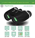 Binoculars for adults bird watching, E-shine Folding Binocular HD Compact Design 10 x 22, Mini Telescope Suitable For Football Safari Sightseeing Climbing Concerts, Sport, Hiking, Camping and Travel