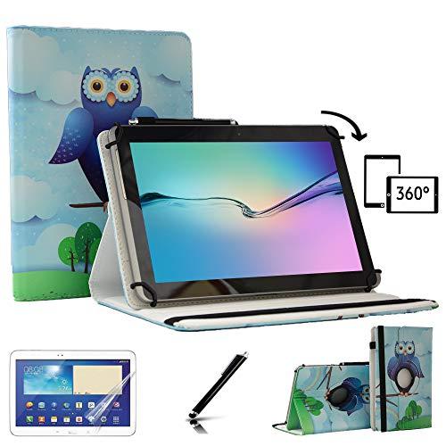 Premium 360Grad Drehbar 25,7cm Flip Ständer Schutzhülle für Odys Maven 10Pro-25,7cm 360 (Galaxy Tablet Sony)
