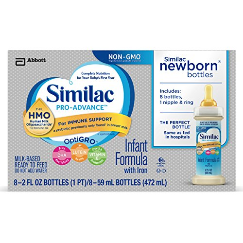 Similac Advance Non-GMO Newborn 8 Bottles with...