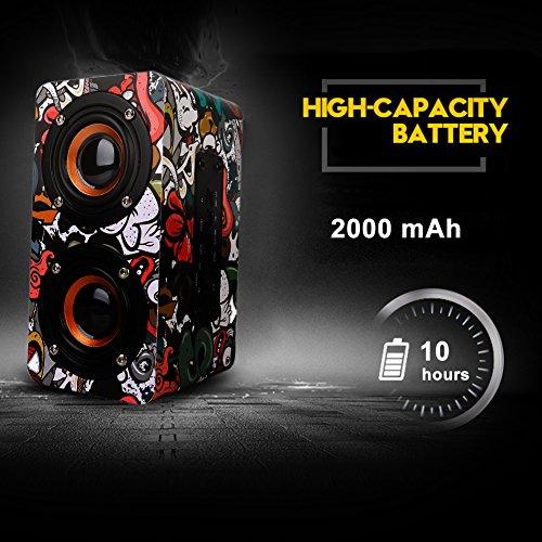 10 W Bluetooth altoparlante di Legno senza fili 2000 mAh continua di emissione 10 – 15H Bluetooth 4.0 altoparlante subwoofer stereo bassi MIGLIORATI batteria incorporata microfono vivavoce, Radio FM,  rosa