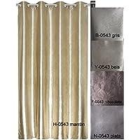 Forentex - Cortina Opaca (H-0543), Dorado, 145 x 260 cm, curtain aislante de calor y frio, reducción ruido, anti polvo, acabados ollaos acero inoxidable. 1-4 cortinas paga solo un envío, descuento equivalente al finalizar la compra.