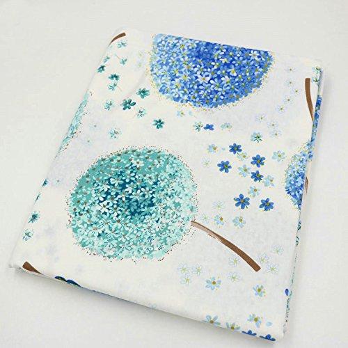 Einem Stück 50cm * 160cm Dream Pusteblume Bedruckte Baumwolle Stoff für Schnittmuster blau/grün (Baumwolle 100% Twill-stoff)