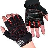 QingTanger Gewichtheben Bodybuilding Gym Fitness Lederhandschuhe dünne passende Handschuhe
