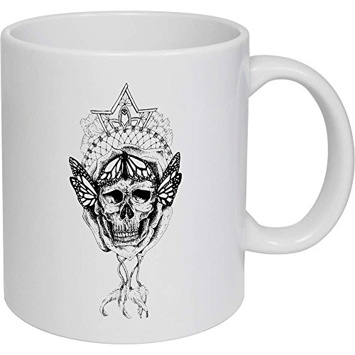 Azeeda 320ml 'Cráneo Atrapasueños' Taza de Ceramica (MG00003891)